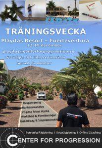 Träningsvecka med Center For Progression på Playitas 12-19 december